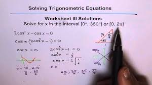 trigonometric equations worksheet 3 solutions q5