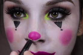 clic circus clown makeup