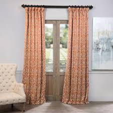exclusive fabrics furnishings semi opaque nouveau rust blackout curtain 50 in w