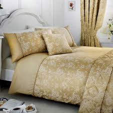 Designer Bedding Collections Discount Details About Gold Duvet Covers Jasmine Floral Damask Quilt Sets Luxury Bedding Collection