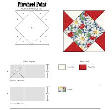 Pinwheel Point Block Cutting Chart On Thistle Thicket Studio