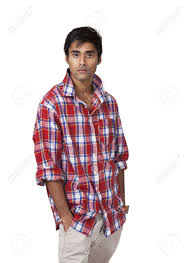 stock photo young indian male with cal atude