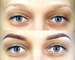 покраска бровей фото до и после