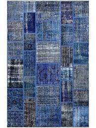 vintage overdyed rugs patchwork blue wool rug x cm melbourne