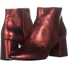 image is loading ash block heel ankle boots 243 red