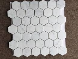 white glass mosaic tile for kitchen and golden select mosaic wall tile hexagon tile