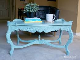Old Coffee Table Makeovers Vintage Coffee Table Makeover In Mint Like A Saturday