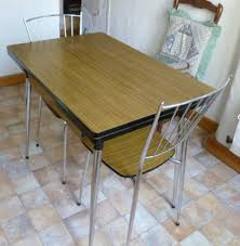 Year 1965 Vintage Formica Kitchen Table Formica Brown Vintage