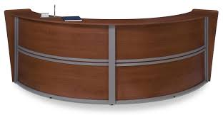 curved reception desk for offices and salons