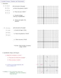 Geometric Transformation Worksheets Wallpapercraft Translations M ...