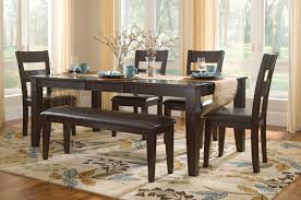 table 4 chairs and bench. lincoln table with 4 side chairs and bench c