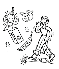 Healthy Eating Coloring Pages Healthy Eating Coloring Pages Coloring