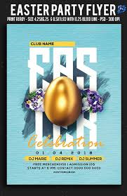 Easter Party Flyer Clubs Parties Easter Party Party