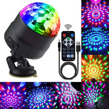 Big W Disco Lights Disco Ball Party Lights Portable Rotating Lights Sound Activated Led Strobe Light 7 Color With Remote And Usb Plug In For Car Home Room Parties Kids