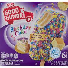 Good Humor Birthday Cake Frozen Birthday Cake Dessert Bar 275 Fl