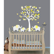 yellow gray safari wall decals with elephant wall decal for boys