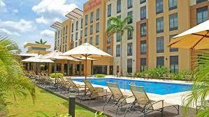 hilton garden inn liberia airport hotel costa rica outdoor pool and gardens