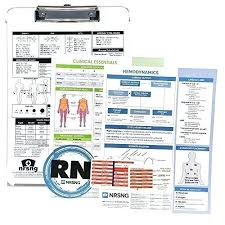 4 X 6 Clipboard Laminated Nursing Reference Cards Fits In