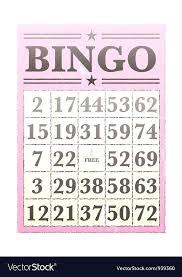 card bingo vector image tsum 4