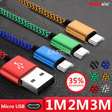 <b>1M</b>/<b>2M</b>/3M Strong Braided Micro <b>USB Data</b> Charger Cable Cord For ...