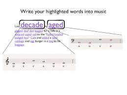 music notes in words musical note story junior