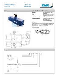 Servo Valve 1 10 Emg Elektro Mechanik Pdf Catalogs