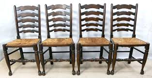 oak ladder back chairs ladder back chairs with rush seats antique french oak small ladder back