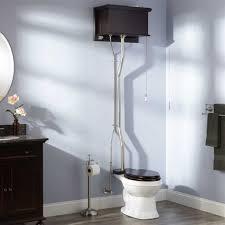 High Tank Pull Chain Toilet Amazing Mahogany High Tank Pull Chain Water Closet With Elongated Victorian