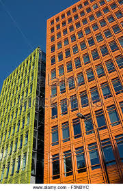 google london offices central st. brightly colored office blocks at central st giles london where google has its offices stock