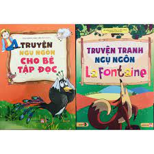 Sách - Combo Truyện Ngụ Ngôn Cho Bé Tập Đọc + Truyện Tranh Ngụ Ngôn La  Fontaine chính hãng 141,120đ