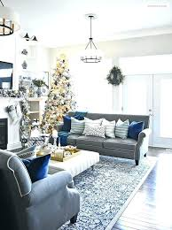 blue and gold living room home tour with white regarding grey peacock