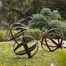 Iron Sphere - Rusted in Garden Ornaments - contemporary - outdoor .