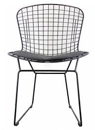 front view of the harry bertoia wire chair