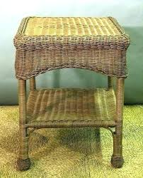 end tables white wicker end table rattan with glass top square all about s