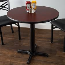 lancaster table and seating standard height table with 30 round reversible cherry black table top and