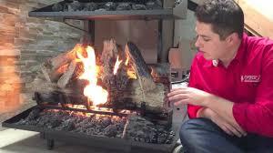 gas or wood fireplace napoleon reversible gas log set fireplace burn produ on electric vs