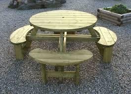elite round table bench seat garden furniture