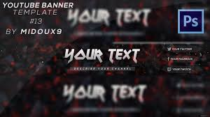 Youtube Channel Banners Speedart Free Amazing Youtube Channel Banner Template 13 Direct Download Link
