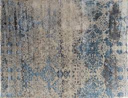 nuloom traditional vintage distressed blue rug beige damask fine area rugs carpets