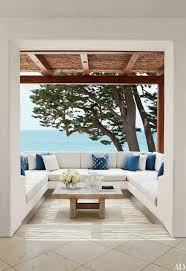 Image Garden On The Private Study Terrace Of California Home Designed By Atelier Am An Oak Low Tablejoins Banquette With Cushions Of Perennials Outdoor Fabric And Architectural Digest 28 Luxurious Indooroutdoor Rooms Architectural Digest