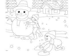 Sneeuwpop Maken Kleurplaat