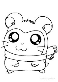 Small Picture Hamtaro color page Coloring pages for kids Cartoon characters