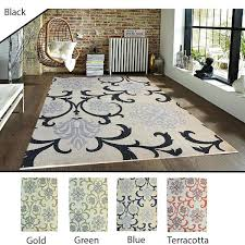 gold area rugs 5x8 feet black gold green blue terracotta modern contemporary indoor outdoor area rug