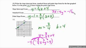 test review algebra 1 writing linear equations problems 9 through 17