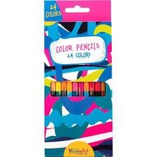 <b>Карандаши</b> цветные <b>двусторонние</b> 24 цв <b>KiddieArt</b>, цвет ...