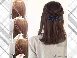 運動会におすすめの髪型ママのヘアアレンジショートロング I See