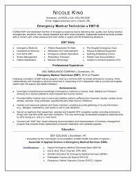 Emt Resume Examples Fresh Emt Resume Sample Professional Resume
