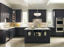 Black Color Custom Interior Design White Kitchen Cabinets With Black