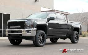 20x9 Fuel Maverick Black Milled on 2015 Chevy Silverado 2500 ...