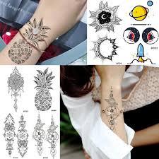 хна цветы женщины временные татуировки наклейки рука рукав ананас татуировки